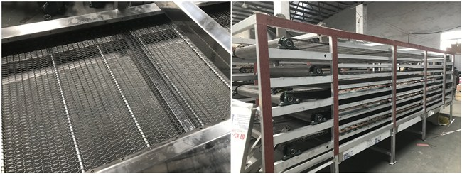 Automatic Artificial Rice Making Machine Silver Grey Color 18×2×3.5m Dimension