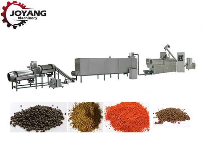 Energy Saving Floating Fish Feed Machine Extrusion Craft Unique Taste Production