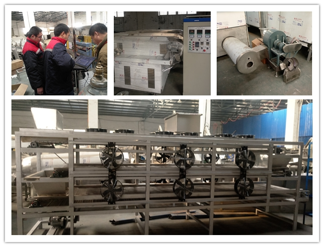 Core Filled Puffed Snacks Processing Line Inverter Speed Controlling HS Code 84388000