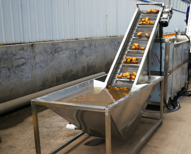 All In One Automatic Potato Chips Making Machine For Cutting And Blanching 0