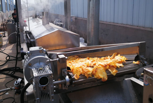 All In One Automatic Potato Chips Making Machine For Cutting And Blanching 2