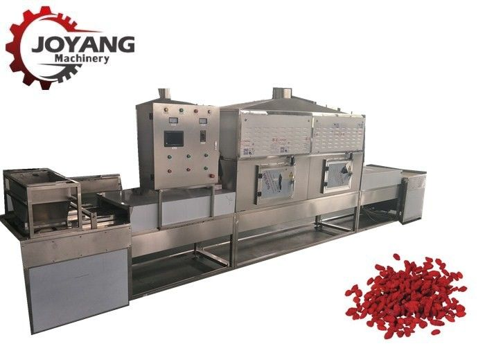 60KW Microwave Drying And Sterilization Machine Fully Automatic Tunnel Type Medlar Drying Equipment
