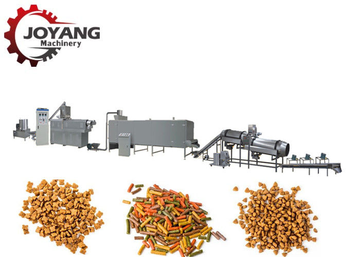 Double Screw Pet Food Processing Line Animal Food Making Machine Long Life