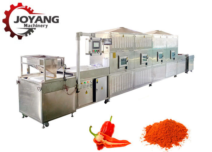 Continuous Microwave Sterilization Machine For Red Chili Pepper Powder Spice Powder