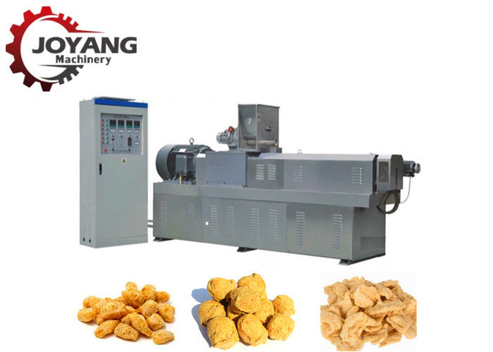 Tvp Soya Vegetarian Meat Muscle Protein Double Extruder Machine Soya Chunks Processing
