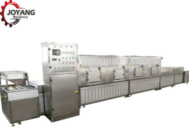 Continuous Conveyor Microwave Heating System , Microwave Heating Machine Easy To Control