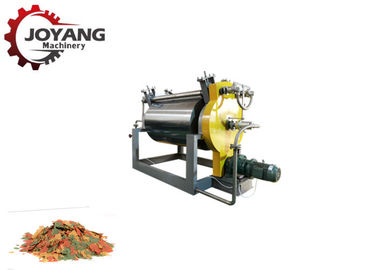 30 Kg / H Roller Flakes Floating Fish Feed Machinery Continuously Operated