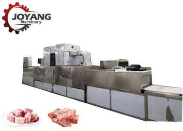 Frozen Products Pork Pieces Food Thawing Machine With Microwave Source