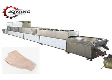 BV Certified Microwave Drying And Sterilization Machine Pork Skin Degreasing Equipment