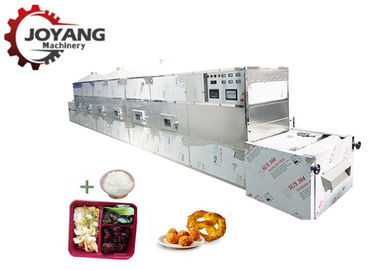China Healthy 60 KW Microwave Fast Food Heating Equipment Work Meals Reheating Machine factory
