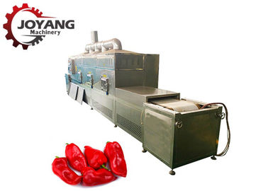 Continuous Tunnel Microwave Chili Drying Machine Red Pepper Dryer Machine